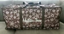 "Matilda Jane Duffel Travel Bag Brown Durable Storage Camp XXL Duffle 35"" NEW"