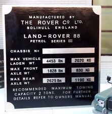 Cloison Boîte Vitesses/Boîte de transfert Plaque Châssis Land Rover Série 3 88 SWB Essence