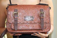 Kate Spade SANTA ROSALIA SCOUT Leather Embossed Scalloped Crossbody Bag Purse