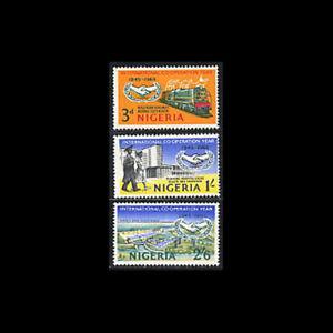 Nigeria, Sc #178-80, MNH, 1965, ICY, Train, Hospital, Kainji Dam, FGID-A