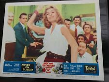 Never on Sunday - Lobby Card  - Melina Mercouri - Film Poster - Mid Century art