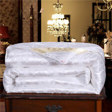 100% Silk Filled Comforter Quilt Duvet Blanket Coverlet New Queen King