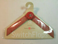 Lindsay Phillips SwitchFlops 7-8 Medium Interchangeable Straps  Red & White