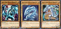 Blue-Eyes White Dragon 1st X 3 YUGIOH LDK2-ENK01 Normal Monster