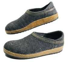 Men's HAFLINGER Wool Grizzly Clog/Slipper Grey, size 44 Germany