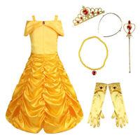 Belle Girls Fancy Dress Kids Baby Princess Dress Up Costume Party Book Week Sets