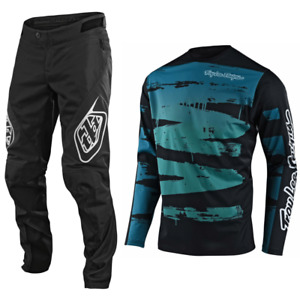 Troy Lee Designs Sprint Gear Combo Set Youth Kids Pants Jersey Bmx Mtb Dh Teal