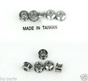 BICYCLE BIKE STEEL SINGLE CHAIN RING CRANK NUTS BOLTS SCREW 5 SETS SILVER CHROME