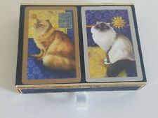 Congress Playing Cards. Ginger Persian Cat & Birman Long Hair Cats Beautiful