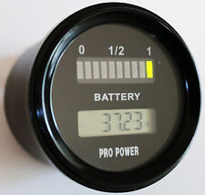 24 Volt LED Battery Indicator w/ LCD Volt Display Works On New Type Batteries MR