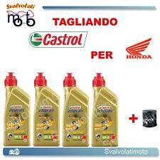 TAGLIANDO FILTRO OLIO + 4LT CASTROL POWER1 10W40 HONDA VTR 1000 SP1-SP2 2001