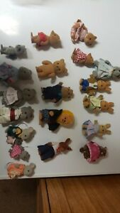 1980s Vintage SYLVANIAN CALICO CRITTERS BEAR MOUSE RACCOON BUNNY TOY dandy lion