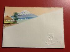 Mt. Fuji Japanese Japanese Vintage Small Used Greeting Card RSVP