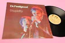 DR FEELGOOD LP STUPIDITY ORIG ITALY 1976 NM !!! SHRINK COVER TOOOOPPP