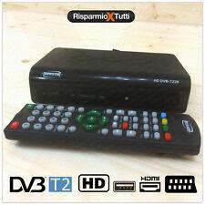 DECODER HD DVB-T2 RICEVITORE DIGITALE TERRESTRE TV SCART HDMI MPEG2 MPEG4 TV