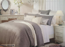 5 Piece Private Collection TESSA SILVER Queen Size Quilt Cover Set