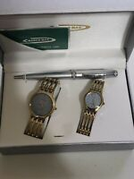 Marco Max Matching His & Hers Watch Box Set Quartz Silver & gold two Tone $299