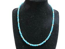 14K Yellow Gold Turquoise Necklace w/ 14K Yellow Gold Clasp