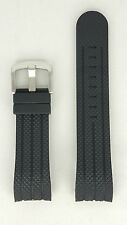 TW Steel Grandeur Diver TW73 Strap Replacement Black Rubber Watchband 22 mm TW85