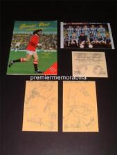 MAN UNITED GEORGE BEST TESTIMONIAL PROGRAMME 1988 PLUS SIGNED (REPRINT) EXTRAS