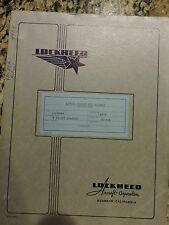 """Super Rare"" Original Lockheed YP-80A Actual Weight & Balance report dated 10-12"