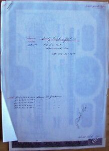 5 Stock certificates Gulf States Utilities Comp. 1965 ## in sequence + papers