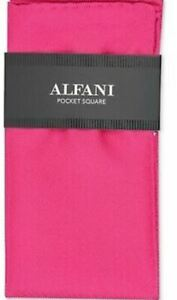 Alfani Mens Silk Twill Pocket Square Fuchsia
