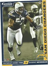 SHAWNE MERRIMAN SAN DIEGO CHARGERS MARYLAND TERPS FATHEAD TRADEABLES 2008 G39