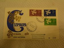 Cyprus 1962 Europa 3 color Chacheted FDC (41beb)