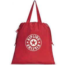 NWT Kipling New Hiphurray L Fold Foldable Drawstring Tote Bag - Lively Red