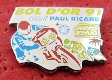 RARE VERSION PIN'S MOTO BOL D'OR 1991 CIRCUIT PAUL RICARD ZAMAC AMC ARGENT