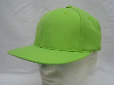 VINTAGE LIME GREEN HAT BALL CAP SNAPBACK GREEN UNDERBILL  WOOL BLEND #V-70