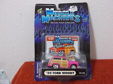 "BRAND NEW..""MUSCLE MACHINES"" 1950 FORD WOODY  HOT ROD COUPE...ADULT COLLECTIBLE"