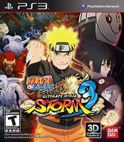 NEW Naruto Shippuden: Ultimate Ninja Storm 3  (Sony Playstation 3, 2013) NTSC