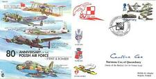 CC57d 80th Anni Polish Air Force RAF cover signed Baroness Cox of Queensbury