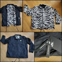 Nike Reversible Zebra Fleece and Nylon Jacket CV7120-010 Men's Size XL NWTs $100