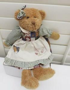 FREE POST GORGEOUS GIRL TEDDY SOFT TOY DRESS  43CM   GIFT