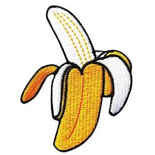 Banana Fruit Yellow Embroidered Iron On Patch Applique Food Monkey Funny Jacket