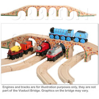 Orbrium Toys 6 Arches Viaduct Bridge for Wooden Railway Track Fits Thomas Trains