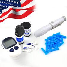 Digital glucometer Blood Sugar Glucose Monitor Diabetes+50p Teststrips+Lancets A