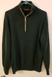 Loro Piana - 1/4 Zip - 100% Cashmere Sweater - Size 52 (L) - for Men