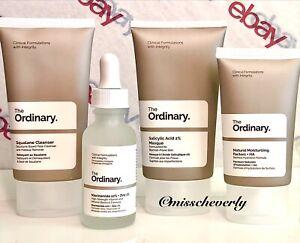 "THE ORDINARY Squalane Cleanser+Salicylic Acid Mask+Niacinamide+NMF ""BALANCE SET"""