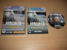 C-130 HERCULES Pc DVD Rom Add-On Flight Simulator Sim X 2004 FSX FS2004 FS