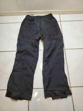 Men's Size Medium 32x30 Ski Snow Hiking Canvas Knee and Rear Pants Black F340