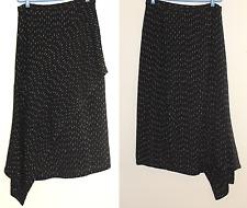 Zonda Nellis Sz M Artist Hand-Woven Black Tweed Lagenlook Avant Garde Wrap Skirt