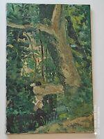 "Huile sur toile "" Verdure"" / Signature à identifier"