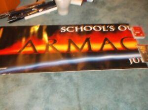 "ARMAGEDDON(1998)BRUCE WILLIS ORIGINAL VINYL BANNER 30""BY144"" HUGE!!!"