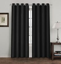 """black curtains ring top 66"""" x 90"""" eyelet top good quality"""