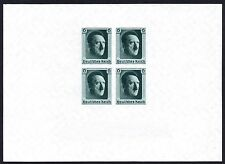 GERMANY 3rd REICH 1937 Adolf Hitler / National Stamp Ex Minisheet Fine MINT NH