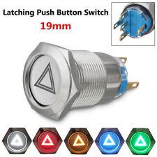 19mm Metal Emergency Hazard Warning Flash Light Push Button Switch For Car Boat